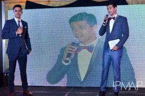 PMAP model and host Evan Spargo with President Raphael Kiefer