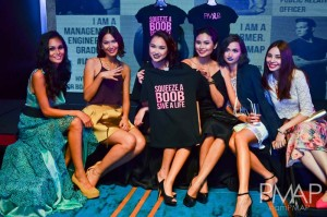 PMAP girls promoting the charity shirt for ICanServe Foundation